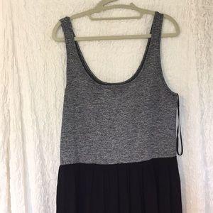 Gray and Black Midi Dress!